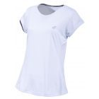 Babolat Girl's Performance Cap Sleeve Tennis Top (White/Silver) - New Style Tennis Apparel