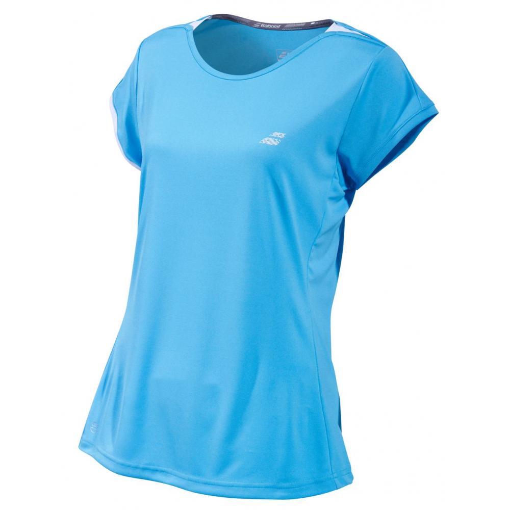 Babolat Girl's Performance Cap Sleeve Tennis Top (Horizon Blue)