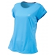 Babolat Girl's Performance Cap Sleeve Tennis Top (Horizon Blue) - Girl's Tennis Apparel