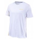 Babolat Men's Performance Crew Neck Tennis Tee (White/Dark Yellow) - Babolat Tennis Apparel