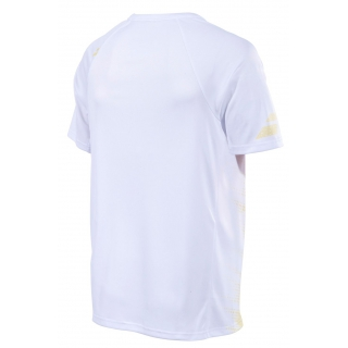 Babolat Men's Performance Crew Neck Tennis Tee (White/Dark Yellow)