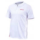 Babolat Men's Performance Tennis Polo (White/Salsa) - Men's Polo Shirts