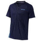 Babolat Men's Performance Tennis Polo (Black/Parisian Blue) - Men's Polo Shirts