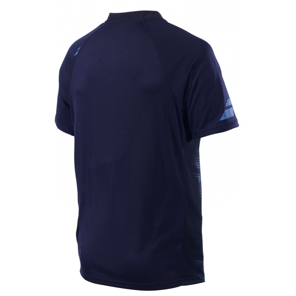 Babolat Men's Performance Tennis Polo (Black/Parisian Blue)