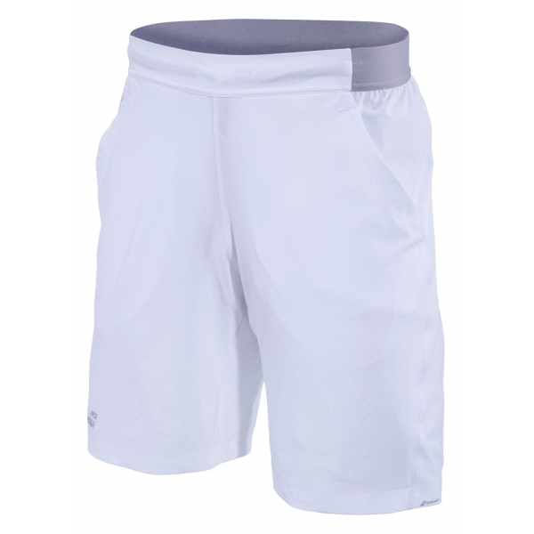 Babolat Men's Performance XLong 9 Inch Tennis Short (White/White)