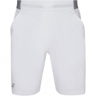 Babolat Men's Compete Tennis XLong Shorts w/ 9 Inch Inseam & Performance Polyester (White/White) - Men's Shorts