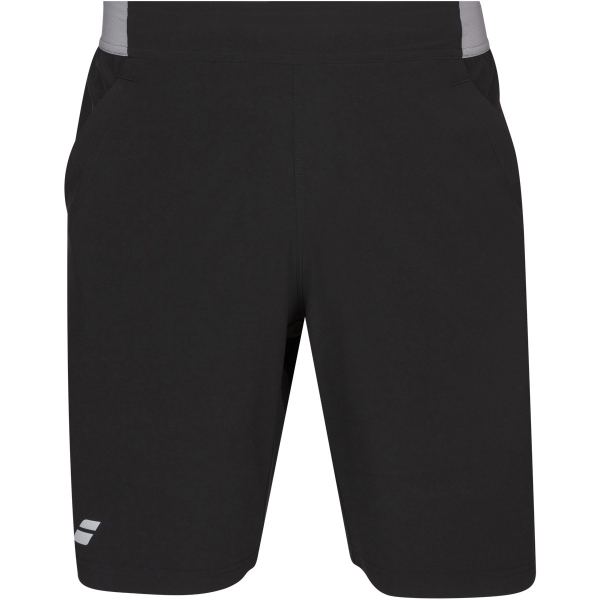 Babolat Men's Compete Tennis XLong Shorts w/ 9 Inch Inseam & Performance Polyester (Black/Black)