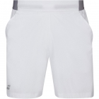 Babolat Men's Compete Tennis Shorts w/ 7 Inch Inseam & Performance Polyester (White/White) -
