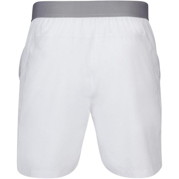 Babolat Men's Compete Tennis Shorts w/ 7 Inch Inseam & Performance Polyester (White/White)