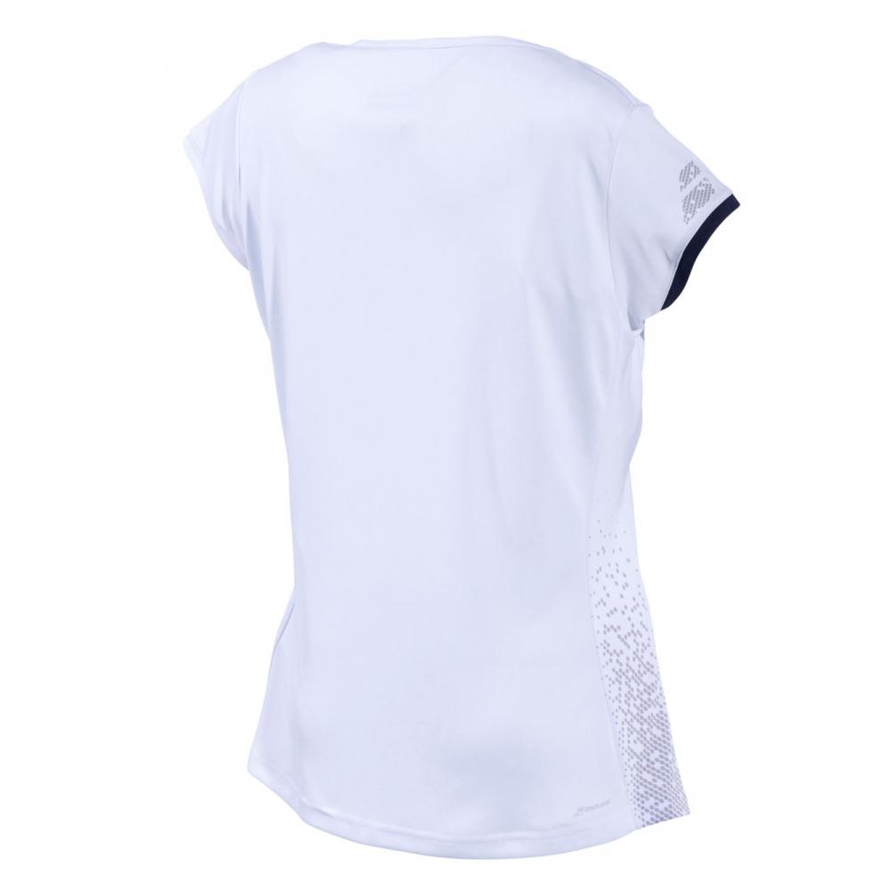 Babolat Women's Performance Cap Sleeve Tennis Top (White/Silver)