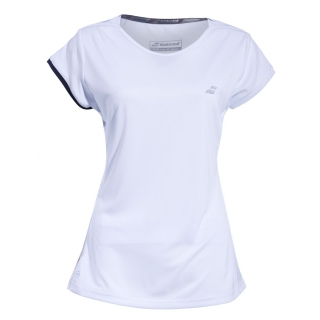 Babolat Women's Performance Cap Sleeve Tennis Top (White/Silver)