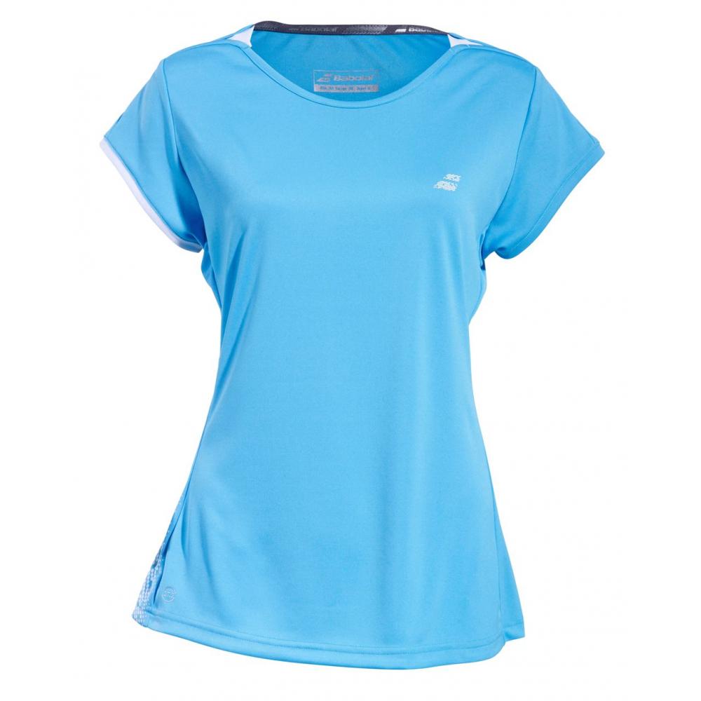 Babolat Women's Performance Cap Sleeve Tennis Top (Horizon Blue)