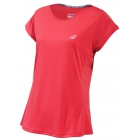 Babolat Women's Performance Cap Sleeve Tennis Top (Hibiscus) - Babolat Women's Tennis Apparel