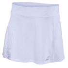 Babolat Women's Performance 13 Inch Pleated Tennis Skirt (White/White) - Babolat Women's Tennis Apparel