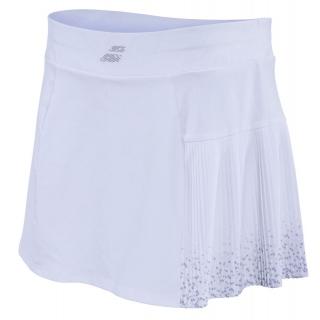 Babolat Women's Performance 13 Inch Pleated Tennis Skirt (White/White)