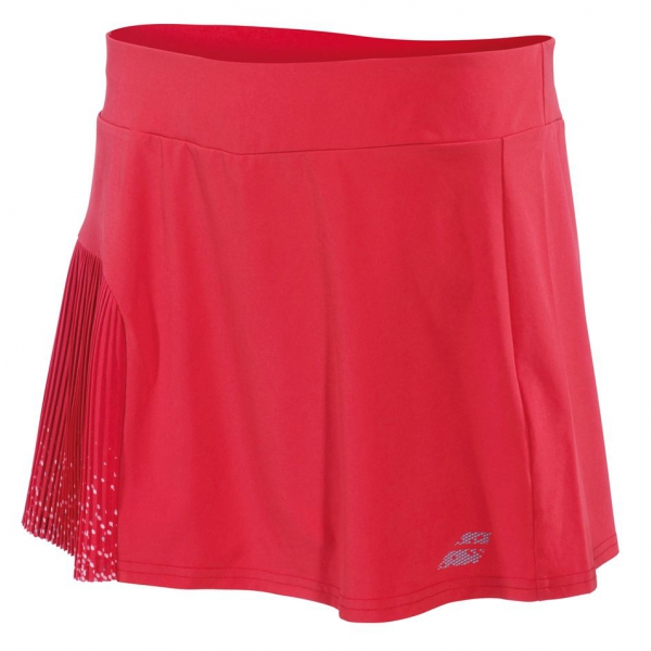 Babolat Women's Performance 13 Inch Pleated Tennis Skirt (Hibiscus)
