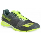 Babolat Men's Jet All Court Tennis Shoes (Grey/Yellow) - Lightweight Tennis Shoes