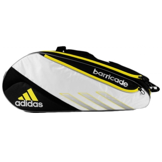 Adidas Barricade III Tour 3 Pack Tennis Bag (Blk/ Wht/ Ylw)