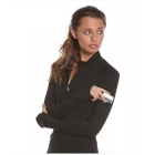 Bloq-UV Mock Zip Long Sleeve Top (Black) - Women's Outerwear Warm-Ups Tennis Apparel