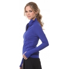 Bloq-UV Mock Zip Long Sleeve Top (Twilight) - Women's Outerwear Tennis Apparel