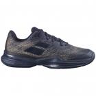 Babolat Men's Jet Mach 3 Wide All Court Tennis Shoes (Black/Gold) -