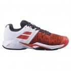 Babolat Men's Propulse Blast All Court Tennis Shoes (Cherry Tomato/White) -