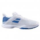 Babolat Men's Jet Tere All Court Tennis Shoes (White/Saxony Blue) -