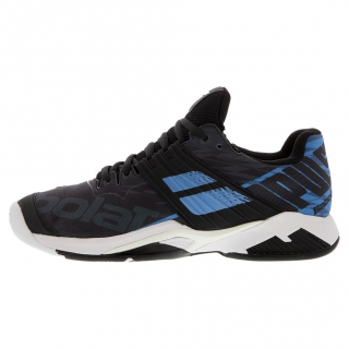 Babolat Men's Propulse Fury All Court Tennis Shoes (Black/Parisian Blue)