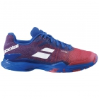 Babolat Men's Jet Mach II All Court Tennis Shoes (Poppy Red/Estate Blue) -
