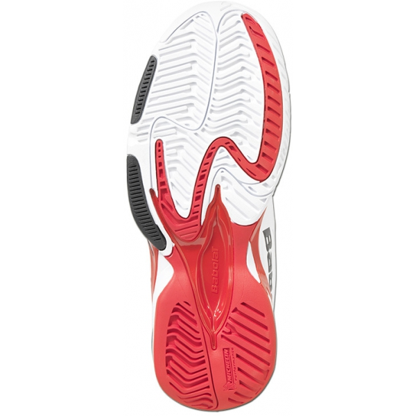 Babolat Men's SFX Tennis Shoes (White/ Red)
