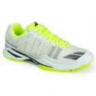 Babolat Men's Jet Team All Court Tennis Shoes (White/Yellow) - Men's Tennis Shoes