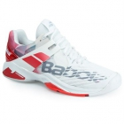 Babolat Men's Propulse Fury All Court Tennis Shoes (White/Chinese Red) - 6-Month Warranty Shoes