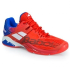 Babolat Men's Propulse Fury All Court Tennis Shoes (Bright Red/Electric Blue) - Babolat Propulse Tennis Shoes