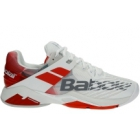 Babolat Men's Propulse Fury All Court Tennis Shoes (White/Chinese Red) - Babolat Tennis Shoes
