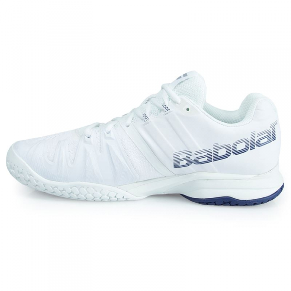 Babolat Men's Propulse Blast All Court Tennis Shoes (White/Blue)
