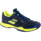 Babolat Men's Jet Mach II All Court Tennis Shoes (Estate Blue/Fluo Yellow) - Men's Tennis Shoes