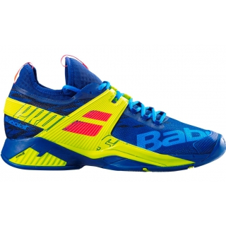 Babolat Men S Propulse Rage All Court Tennis Shoes Blue Fluo Yellow