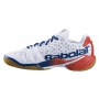 Babolat Men's Shadow Tour Tennis Shoes (White/Estate Blue)