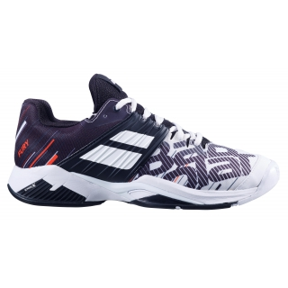 Babolat Men's Propulse Fury All Court Tennis Shoes (White/Black)