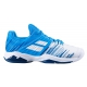 Babolat Men's Propulse Fury All Court Tennis Shoes (White/Blue Aster) - Babolat Propulse Tennis Shoes