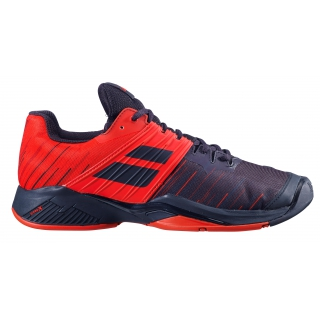 Babolat Men's Propulse Fury All Court Tennis Shoes (Black/Tomato Red)