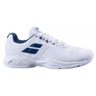 Babolat Men's Propulse Blast All Court Tennis Shoes (White/Estate Blue) - Babolat Propulse Tennis Shoes