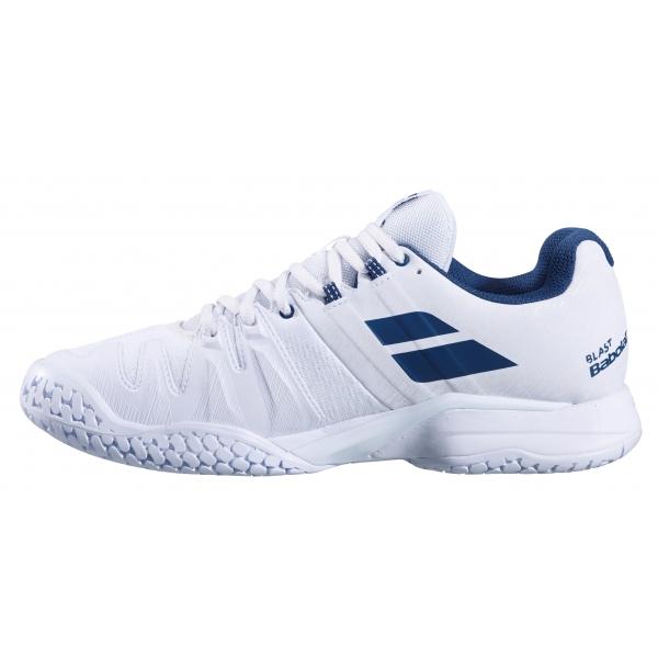 Babolat Men's Propulse Blast All Court Tennis Shoes (White/Estate Blue)