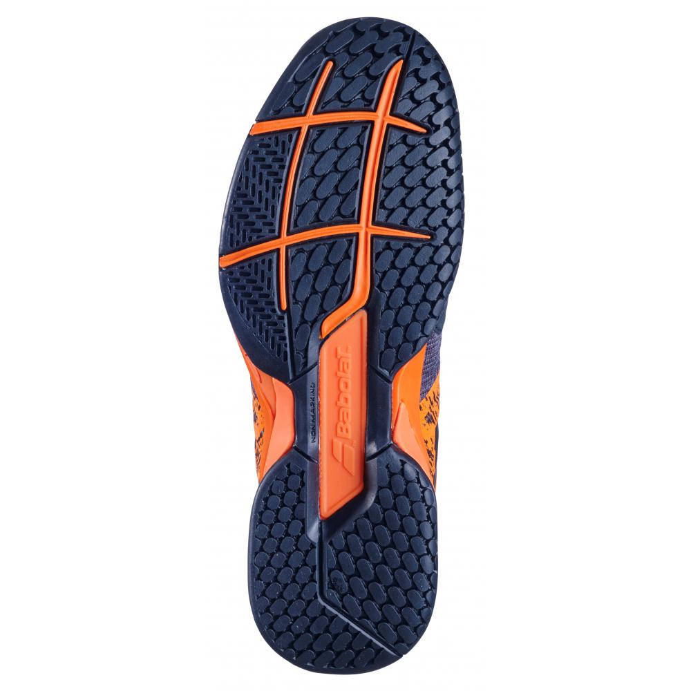 Babolat Men's Propulse Blast All Court Tennis Shoes (Black/Golden Poppy)