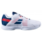 Babolat Men's SFX 3 All Court Tennis Shoes (White/Estate Blue) - Specials & Deals on Premium Tennis Gear