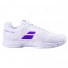 Babolat Men's SFX3 All Court Wimbledon Tennis Shoes (White/Purple) -