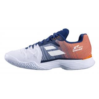 Babolat Men's Jet Mach II Clay Court Tennis Shoes (White/Pureed Pumpkin)