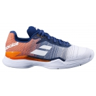 Babolat Men's Jet Mach II Clay Court Tennis Shoes (White/Pureed Pumpkin) - Babolat Tennis Shoes