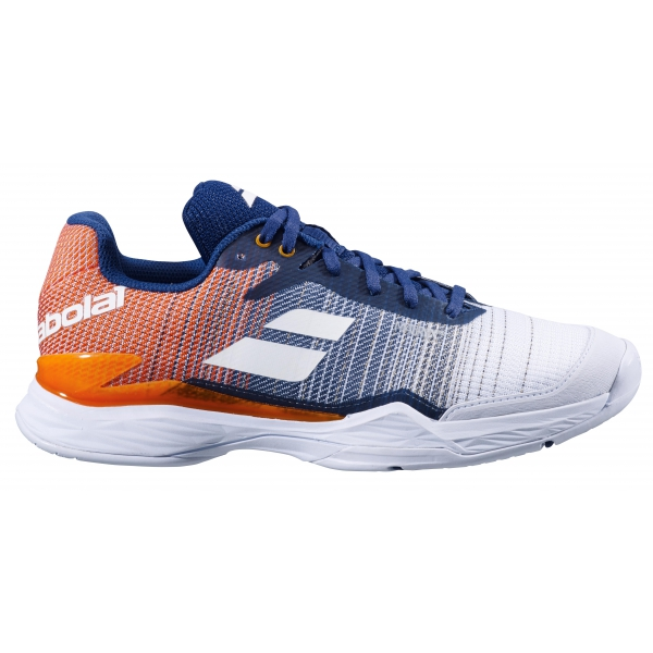 Babolat Men's Jet Mach II Tennis Shoes (White/Pureed Pumpkin)