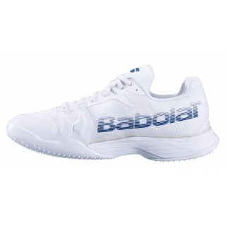 Babolat Men's Jet Mach II Grass Court Tennis Shoes (White/Estate Blue)